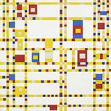 Broadway Boogie Woogie c1942 - Piet Mondrian reproduction oil painting