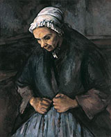 An Old Woman with Rosary - Paul Cezanne reproduction oil painting