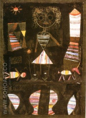 Puppet Theatre 1923 - Paul Klee reproduction oil painting