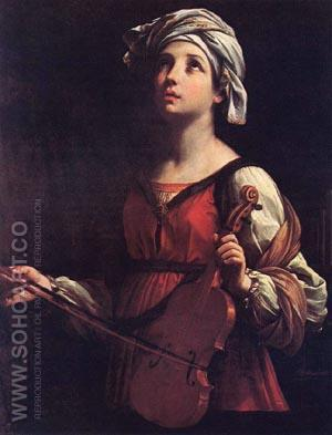 St Cecilia (original size) - Guido Reni reproduction oil painting