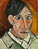 Self-Portrait 1907 - Pablo Picasso reproduction oil painting