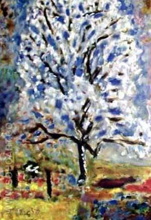 Almond Tree in Bloom - Pierre Bonnard reproduction oil painting