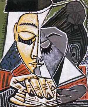 Tete D'une Femme Lisant - Pablo Picasso reproduction oil painting