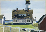 Captain Strout's House 1927 - Edward Hopper reproduction oil painting