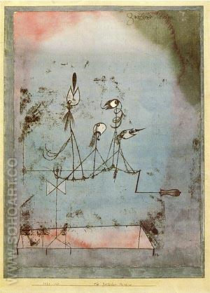 Twittering Machine 1922 - Paul Klee reproduction oil painting