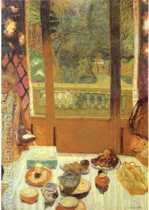 The Dining Room Overlooking the Garden 1930 - Pierre Bonnard reproduction oil painting