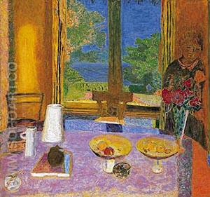The Dining Room on the Garden 1934 - Pierre Bonnard reproduction oil painting