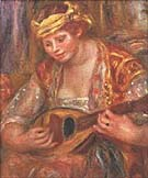 Woman with a Mandolin - Pierre Auguste Renoir reproduction oil painting