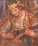 Woman with a Mandolin - Pierre Auguste Renoir
