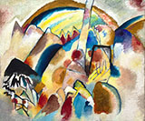 Landscape with 2 Red Spots 1913 - Wassily Kandinsky reproduction oil painting