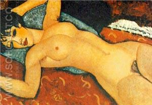 Nude on a Cushion 1917 - Amedeo Modigliani reproduction oil painting