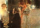 Schubert at the Piano 1899 - Gustav Klimt reproduction oil painting