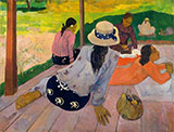 The Siesta Tahiti - Paul Gauguin reproduction oil painting