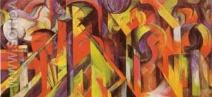 Stables 1913 - Franz Marc reproduction oil painting