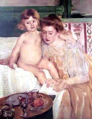 Mother and Child 1901 - Mary Cassatt reproduction oil painting