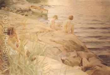 Out - Anders Zorn reproduction oil painting