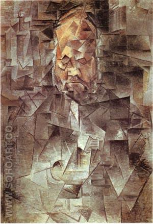 Portrait of Ambroise Vollard 1910 - Pablo Picasso reproduction oil painting