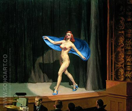 Girlie Show 1941 - Edward Hopper reproduction oil painting