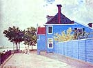 The Blue House Zandaam 1871 - Claude Monet reproduction oil painting