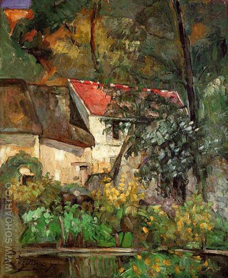 House of Pere Lacroix - Paul Cezanne reproduction oil painting
