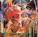 Deer in the Forest I - Franz Marc reproduction oil painting