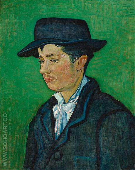 Portrait of Armand Roulin 1888 2 - Vincent van Gogh reproduction oil painting
