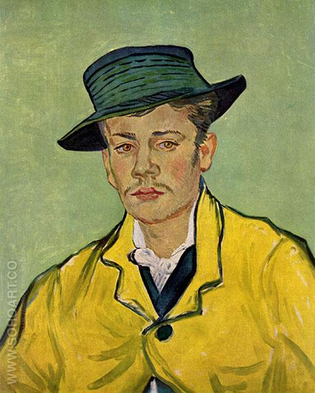 Portrait of Armand Roulin 1888 - Vincent van Gogh reproduction oil painting