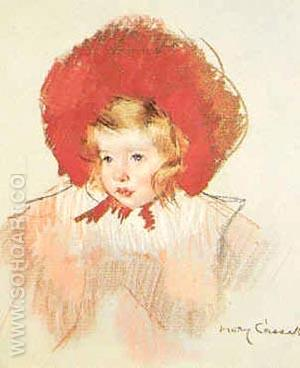 Child with Red Hat - Mary Cassatt reproduction oil painting