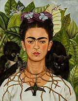 Self Portrait with Necklace of Thorns 1940 - Frida Kahlo