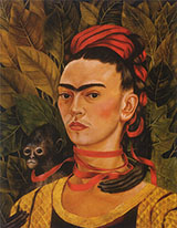 Self Portrait with Monkey 1940 - Frida Kahlo