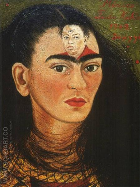Diego and I 1949 - Frida Kahlo reproduction oil painting