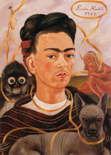 Self Portrait with Small Monkey 1945 - Frida Kahlo