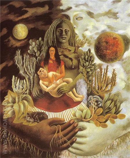 Love Embrace of The Universe 1949 - Frida Kahlo reproduction oil painting