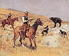 His Last Stand, 1895 - Frederic Remington reproduction oil painting