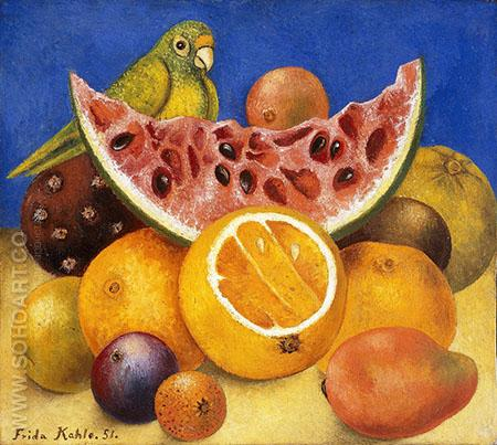 Still Life with Parrot 1951 - Frida Kahlo reproduction oil painting