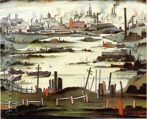 The Lake 1937 - L-S-Lowry reproduction oil painting