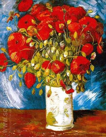 Poppies 1886 - Vincent van Gogh reproduction oil painting