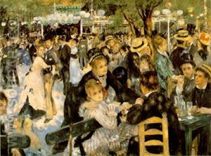 Le Moulin de la Galette - Pierre Auguste Renoir reproduction oil painting