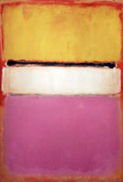 White Centre Yellow Pink and Lavender on Rose 1950 - Mark Rothko