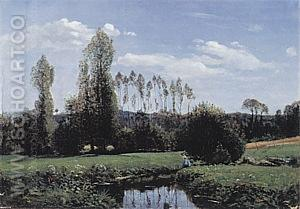 View of Rouelles, 1958 - Claude Monet reproduction oil painting
