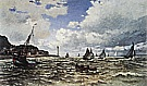 Mouth of the seine at Honfleur 1865 - Claude Monet reproduction oil painting