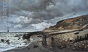 The Pointe de la Heve at Low Tide, 1865 - Claude Monet reproduction oil painting