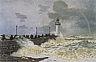 The Jetty at le Havre - Claude Monet reproduction oil painting