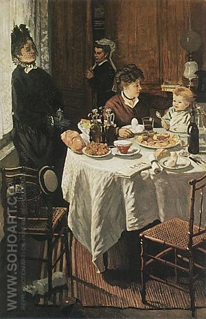 The Luncheon, 1868-69 - Claude Monet reproduction oil painting