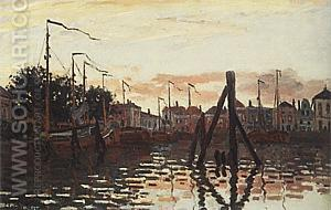 The Port of Zaandam, 1871 - Claude Monet reproduction oil painting