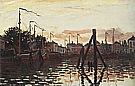 The Port of Zaandam, 1871 - Claude Monet reproduction oil painting