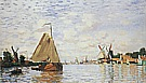 The Zaan at Zaandam, 1871 - Claude Monet reproduction oil painting
