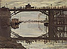 The Highway Bridge Under Repair, 1872 - Claude Monet reproduction oil painting