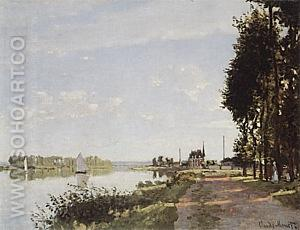 The Promenade at Argenteuil, 1872 - Claude Monet reproduction oil painting
