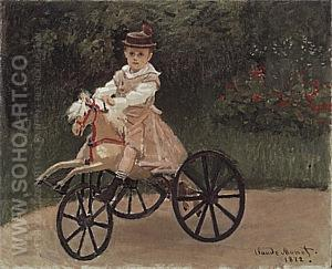 Jean on his Mechanical Horse, 1872 - Claude Monet reproduction oil painting
